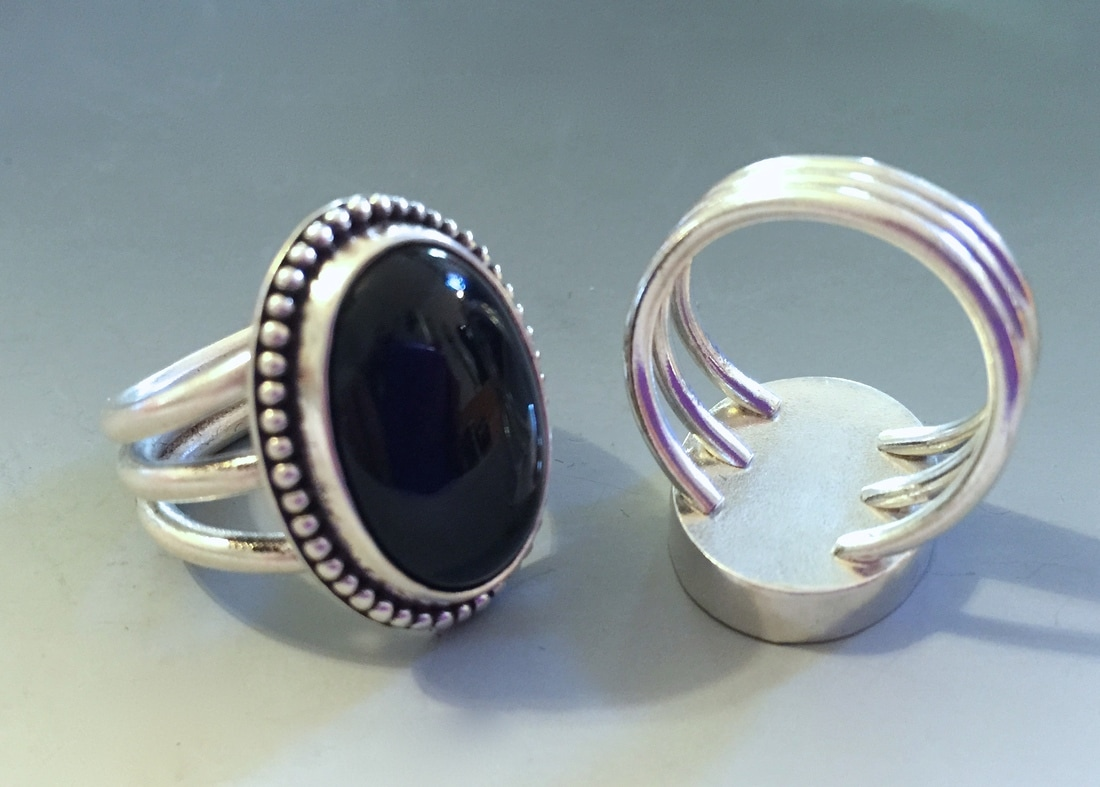 Argentium Ring and Earring - BOULDER METALSMITHING ASSOCIATION